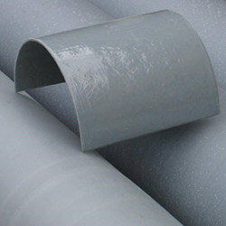 FibaWearpad - a pre-moulded GRP pipe-section custom manufactured